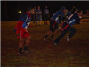 Flag football players running
