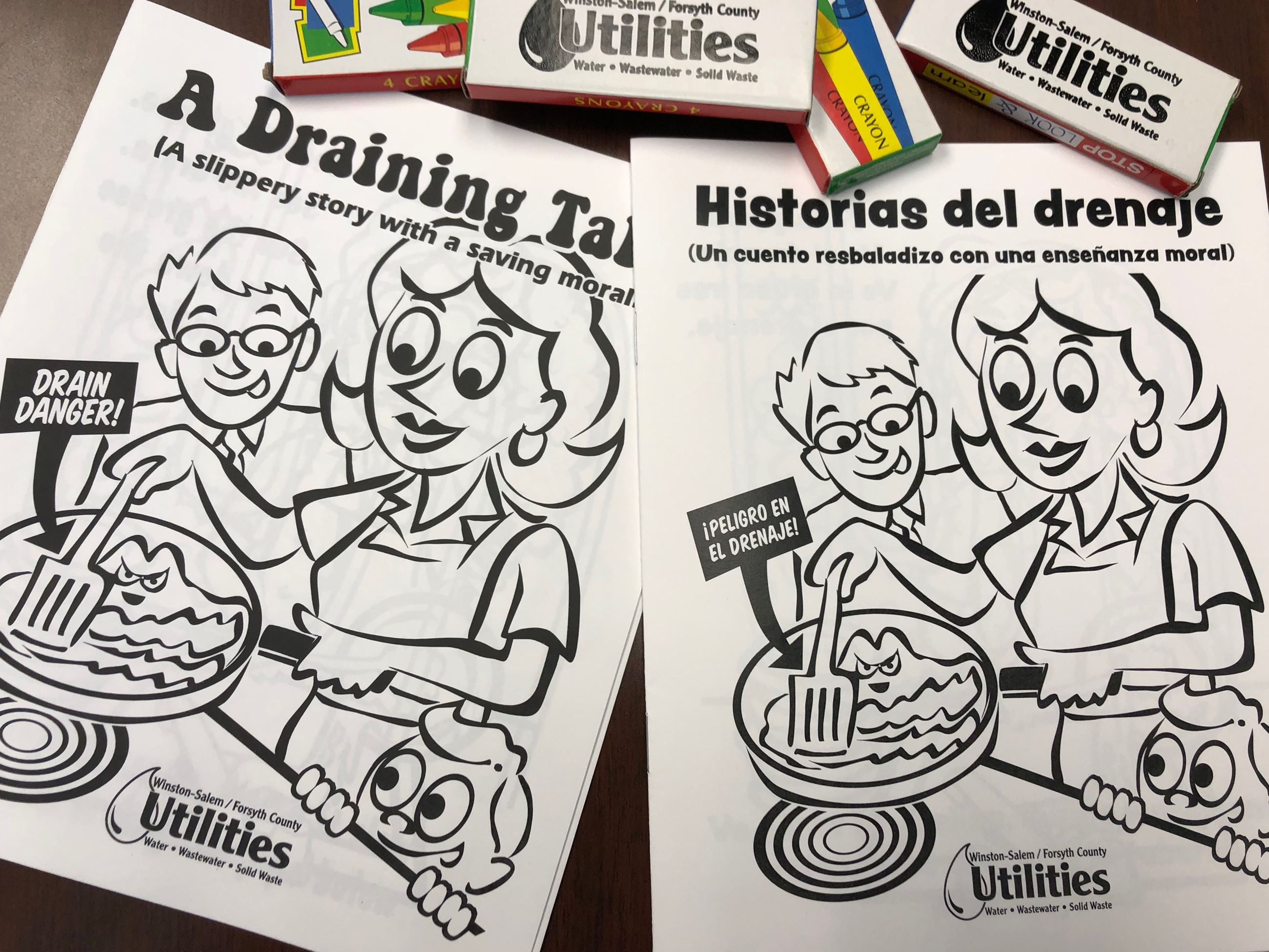 Can the Grease/La Grasa al Bote coloring book front covers Opens in new window