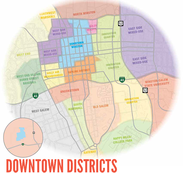 Downtown Planning Area Boundary Map